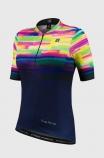 Camisa de Ciclismo Feminina Free Force Sport Psicodelic